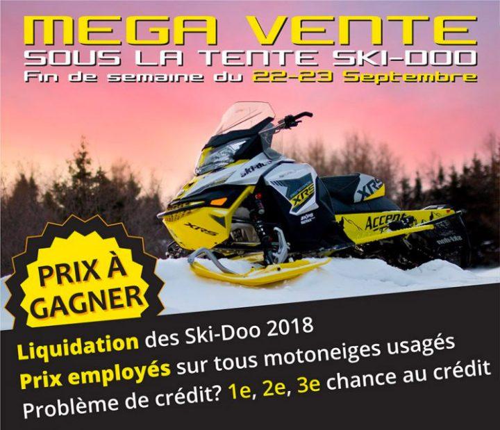 Mega Vente – Sous la Tente Ski-doo